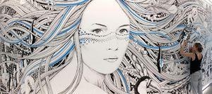 ALEX ET MARINE - déesse - Fresque