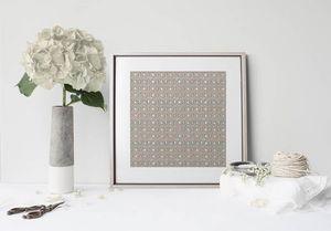 la Magie dans l'Image - print art anis vert-de-gris beige - Estampe