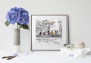 la Magie dans l'Image - print art canal st martin - Estampe