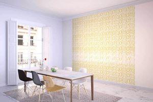 la Magie dans l'Image - grande fresque murale anis jaune blanc - Papier Peint Panoramique