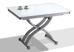 WHITE LABEL - table basse form relevable extensible, plateau en - Table Basse Relevable