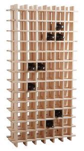 Aubry-Gaspard - casier à vin en bois 78 bouteilles - Range Bouteilles
