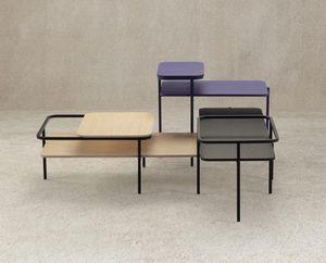 MUT DESIGN - table basse rectangulaire duplex  - Table Basse Rectangulaire