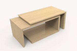 Creation Desmarchelier - inca - Table Basse Rectangulaire