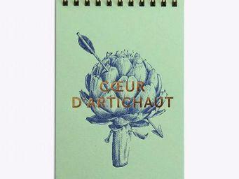 LES EDITIONS DU PAON - coeur d'artichaut vert - Bloc Notes