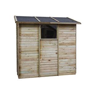 CEMONJARDIN - abri de rangement adossé en bois 2,63 m² elisa - Abri De Jardin Bois