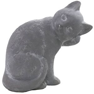 CHEMIN DE CAMPAGNE - statue sculpture chat en ciment 20 cm - Ornement De Jardin