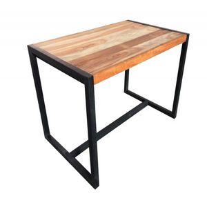 Mathi Design - table haute rectangulaire factory - Mange Debout