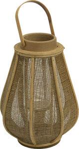 Amadeus - lanterne bois de rotin naturel - Lanterne D'extérieur