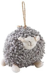 Aubry-Gaspard - mouton à suspendre en coton gris shaggy - Peluche