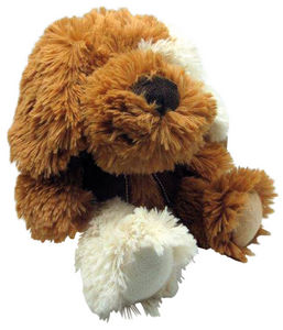 Aubry-Gaspard - peluche chien en acrylique brun - Peluche