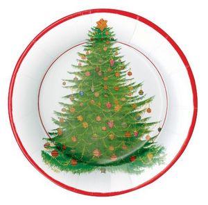 CASPARI - noel - Assiette En Carton De Noël