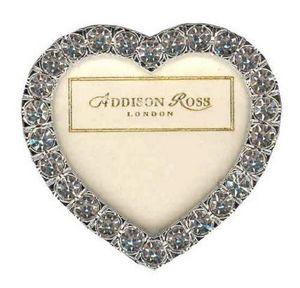 Addison Ross - 2 heart clear diamante - Cadre Photo