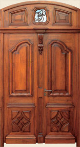 Ebenisterie D'art Bertoli - montfort - Porte D'entr�e Pleine
