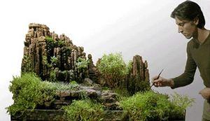 Atelier Paul Louis Duranton - le rocher sacré - Jardin D'intérieur