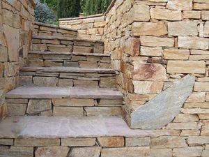 HMT - barrettes de quartzite - Escalier D'ext�rieur