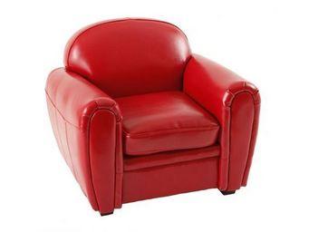 Miliboo - baby fauteuil club rouge - Fauteuil Enfant