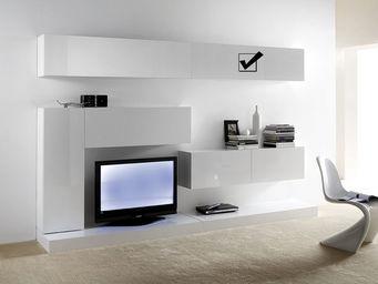 ACHATDESIGN - meuble tv mural horizontal up l blanc - Meuble De Salon Living
