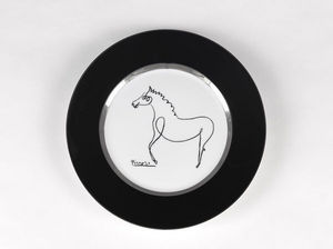 MARC DE LADOUCETTE PARIS - picasso cheval 1920 - Assiette De Présentation
