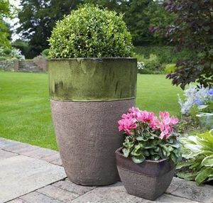 Riverhill Garden Supplies - apta ironstone tall egg pot - Jardinière
