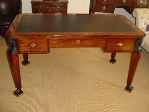 Brookes-Smith - an empire revival mahogany writting table c.1860 - Table D'écriture