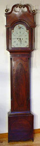 KIRTLAND H. CRUMP - mahogany inlaid tall case clock made by asa whitne - Horloge Sur Pied