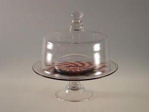 Artfull : Art For Glass - medium cloche and swirl stand - Cloche En Verre Décorative