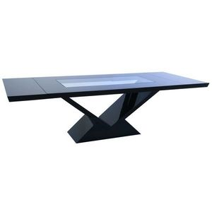 Art Glass - brooklyn - extending dining table - Table À Abattant