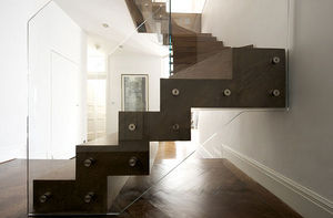 Tin Tab - zigzag stair with winders - Escalier Deux Quarts Tournant
