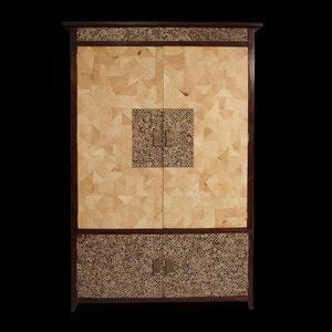 Matahati - armoire en mosaïque sur mesure - Armoire À Portes Battantes