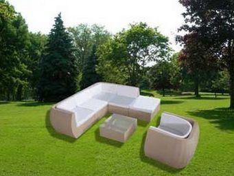 UsiRama.com - natuluxe salon de jardin en résine tressée beige - Salon De Jardin