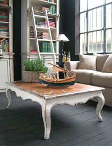 BLEU PROVENCE - vintage blanc - Table Basse Rectangulaire