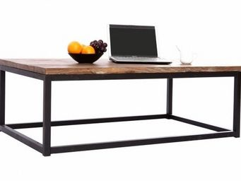 Miliboo - table basse industrielle factory - Table Basse Rectangulaire