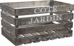 Aubry-Gaspard - caisse en bois côté jardin 55x36x30cm - Caisse À Bouteilles