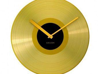 Karlsson Clocks - karlsson - horloge record golden - karlsson - noir - Horloge Murale