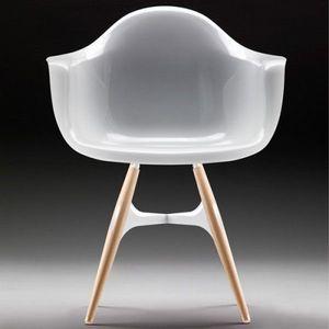 Sodezign - chaise fa avec accoudoirs design en polycarbonate - Fauteuil