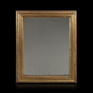 Expertissim - miroir en bois stuqué et doré. fin xixe siècle - Miroir