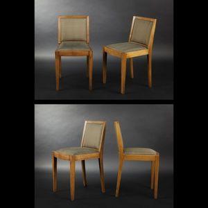 Expertissim - suite de quatre chaises en chêne massif - Chaise