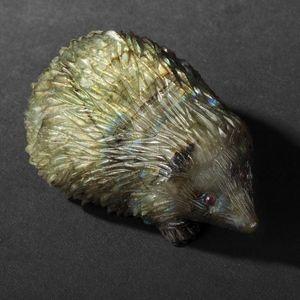 Expertissim - herisson en labradorite - Sculpture Animalière