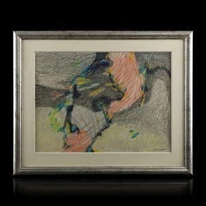 Expertissim - paul ackerman (1908-1981). composition abstraite - Tableau Contemporain