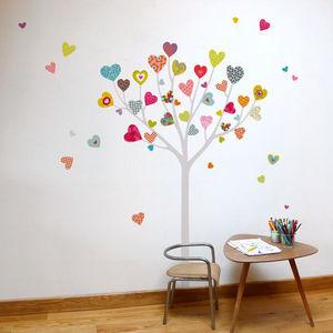 SERIE GOLO - arbre à coeur - Sticker Décor Adhésif Enfant