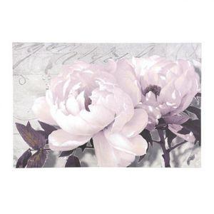 Maisons du monde - toile floralie grisée - Photographie