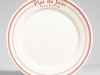 Maisons du monde - assiette plate bistrot rouge - Assiette Plate