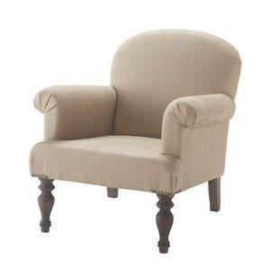 Maisons du monde - fauteuil en lin gabi - Fauteuil