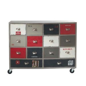 Maisons du monde - cabinet 14 tiroirs marmiton - Meuble � Tiroirs