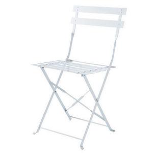 Maisons du monde - lot de 2 chaises blanches guinguette - Chaise De Jardin