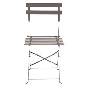 Maisons du monde - lot de 2 chaises taupe confetti - Chaise De Jardin
