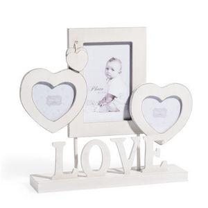 Maisons du monde - cadre � poser blanc love - Cadre Photo Enfant