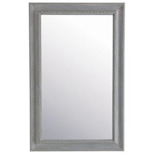 Maisons du monde - miroir léonore gris 90x140 - Miroir