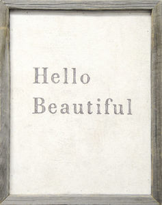 Sugarboo Designs - art print - hello beautiful - Tableau D�coratif